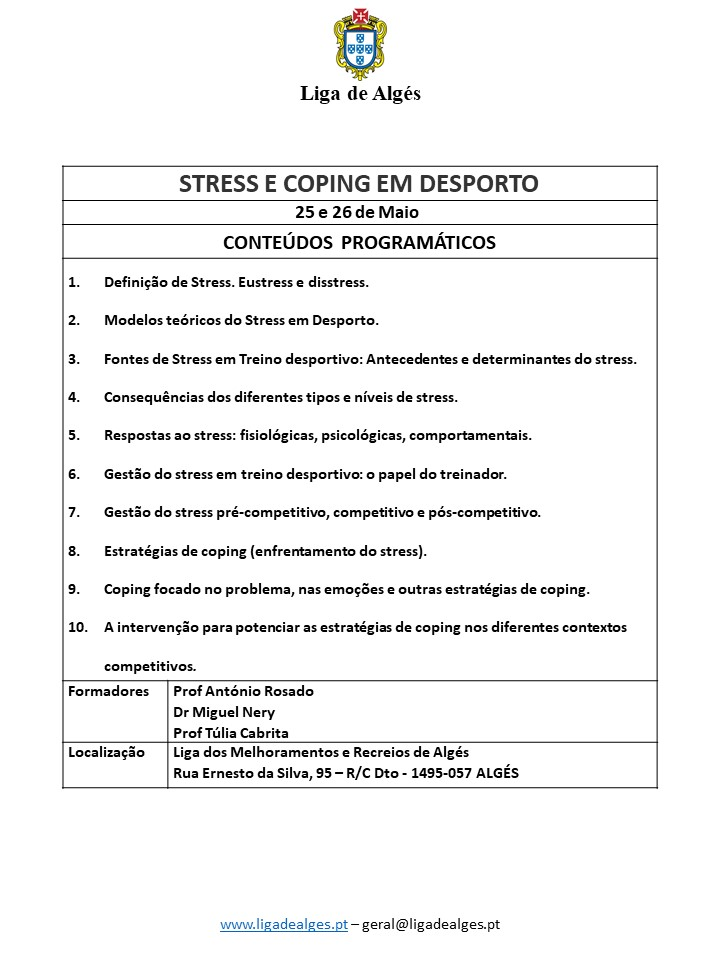 Conteudos_ Stress e Coping em Desporto